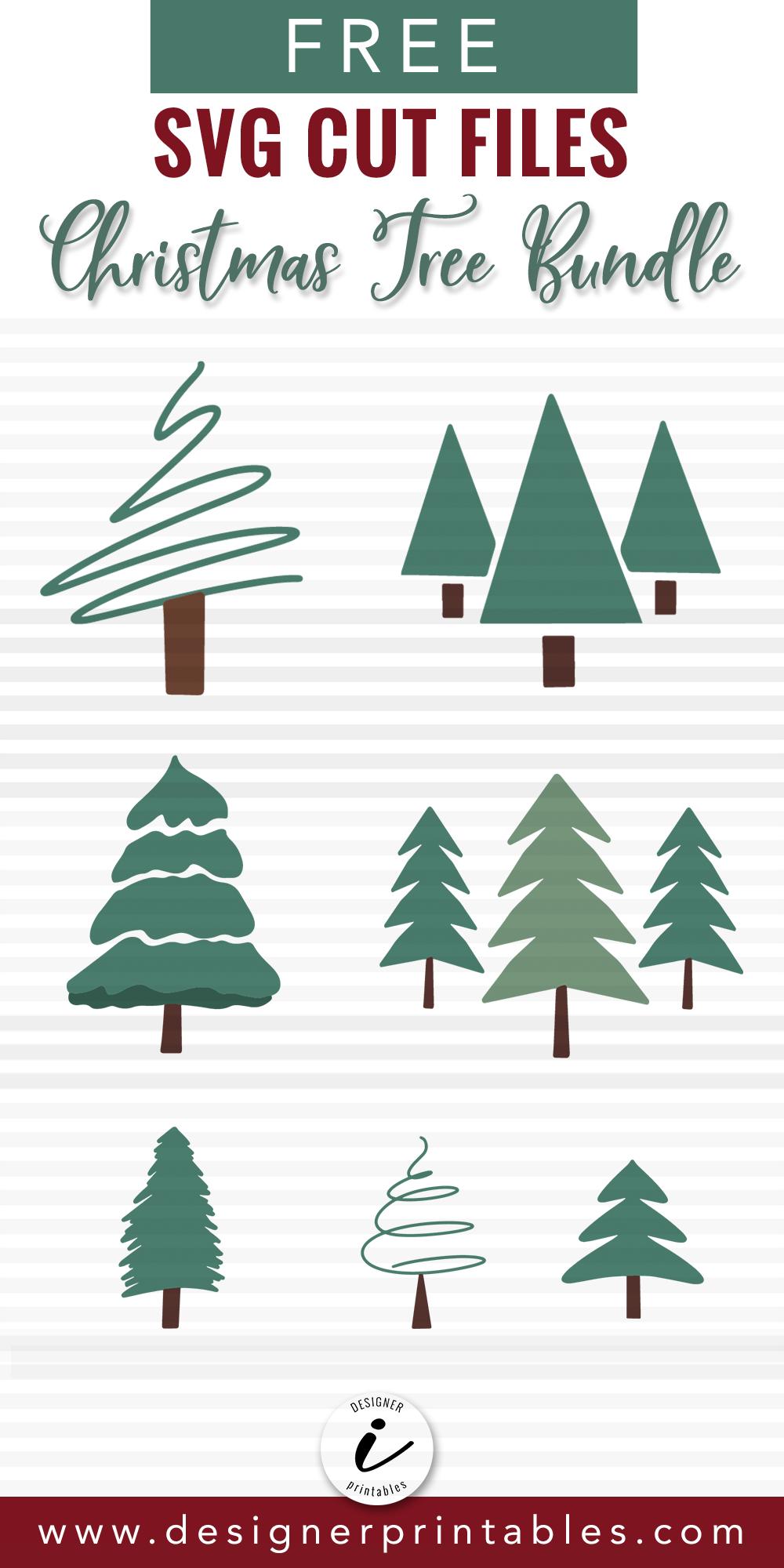 Free Christmas Tree Svg Christmas Tree Bundle Designer Printables Christmas Svg Files Free Tree Svg Christmas Svg Files