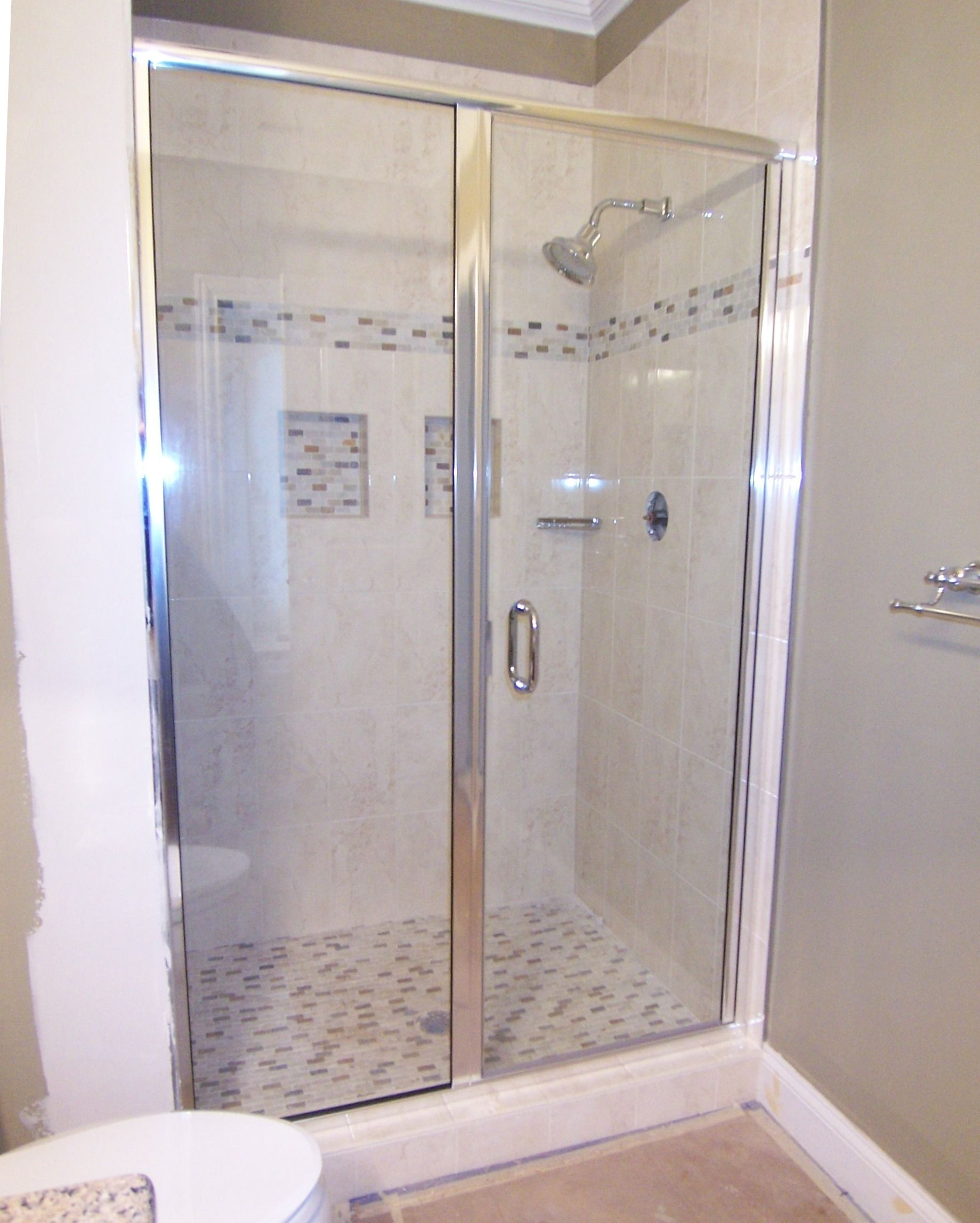 stainless door right in steel base dp one frameless included sliding and enclosure with x piece winslow hardware shower glass vigo clear