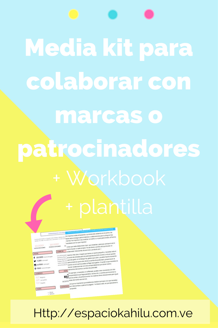 Un media kit para colaborar con marcas + plantilla para descargar ...
