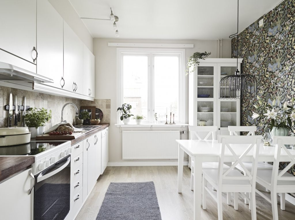 Creative Scandinavian Home Interior Combined With Plants Decor Scandinavian Home Interiors Scandinavian Kitchen Design Elegant Kitchens