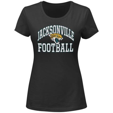 NFL Jacksonville Jaguar Women s Majestic Black Franchise Fit T-Shirt ... 22607ff22