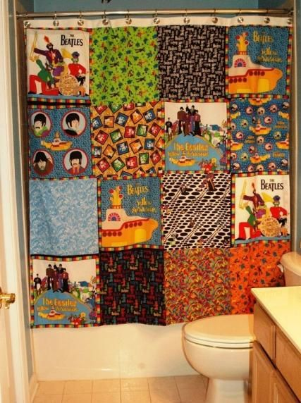 Beatles Shower Curtain Cool Shower Curtains The Beatles
