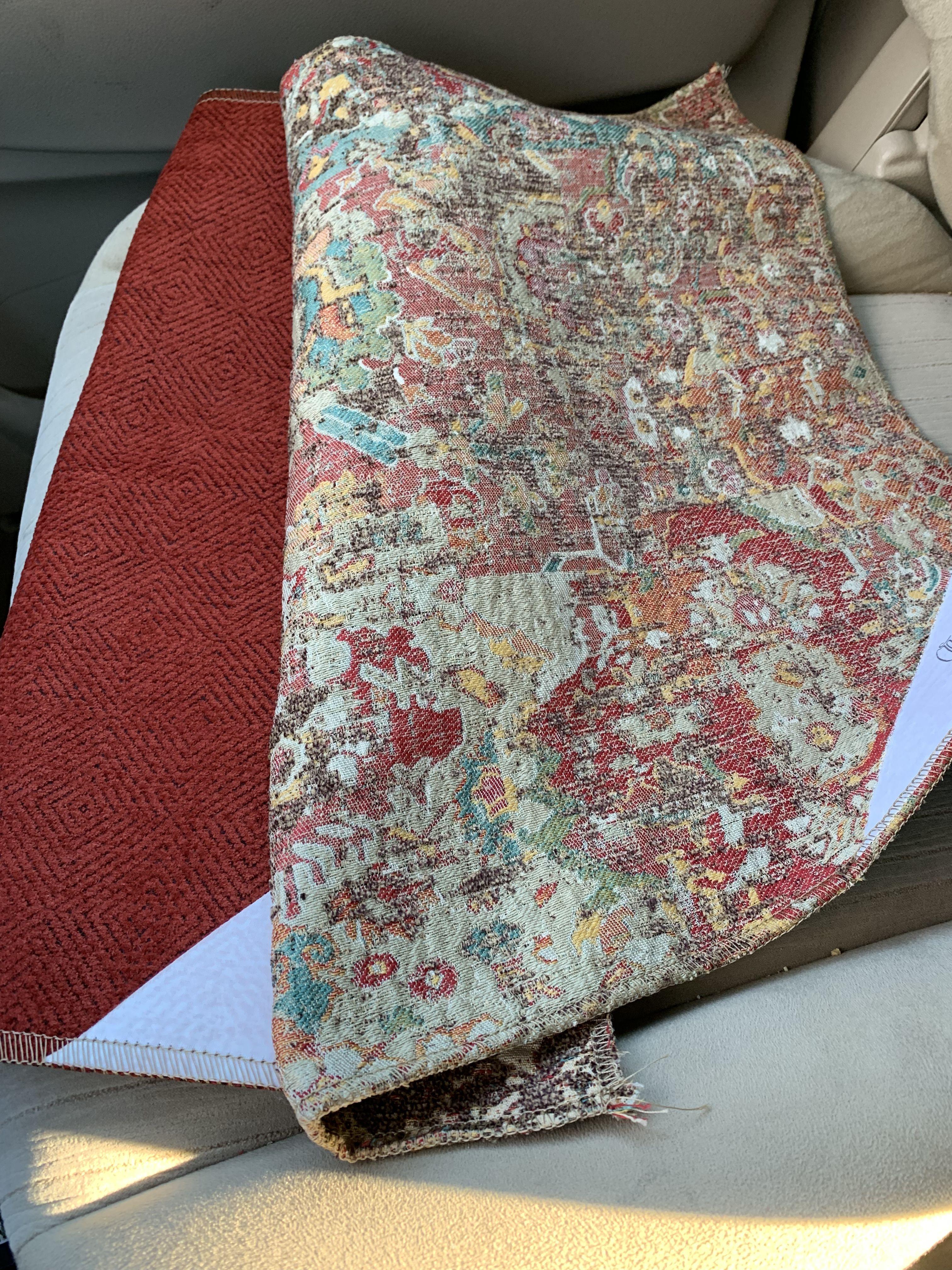 Crypton Fabric On Sofa Print On Pillow Front Crypton Fabric
