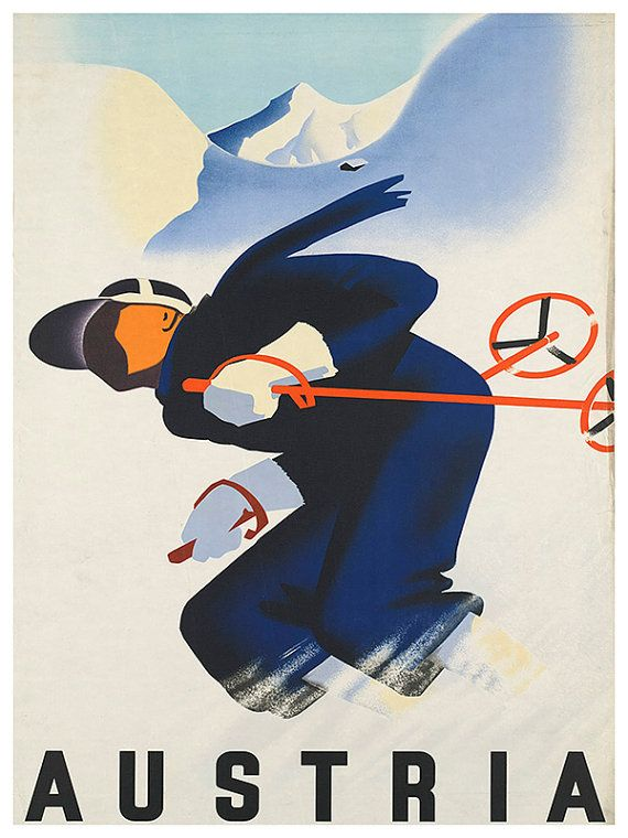 T51 Vintage Austria Vienna Austrian Travel Poster Re-Print A1//A2//A3//A4
