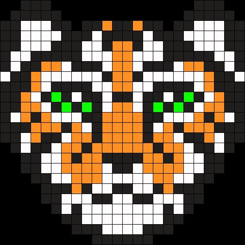 tigre perler bead pattern bead sprite art pinterest dessin pixel hama et perles hama. Black Bedroom Furniture Sets. Home Design Ideas