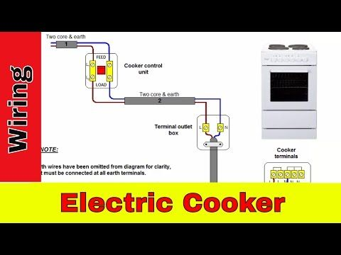 How To Wire An Electric Cooker Uk Youtube Electric Cooker Electricity Diy Electrical