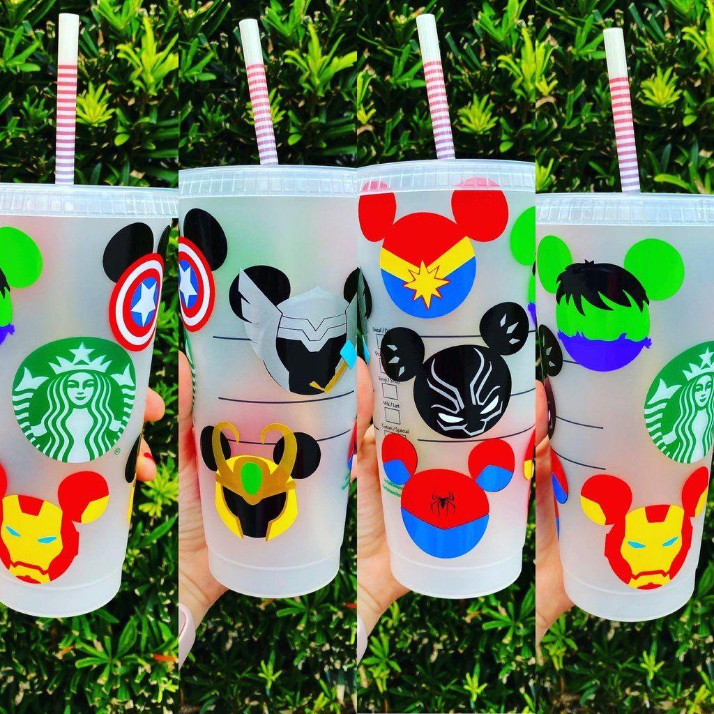 Marvel Mickey Heads Starbucks Cup