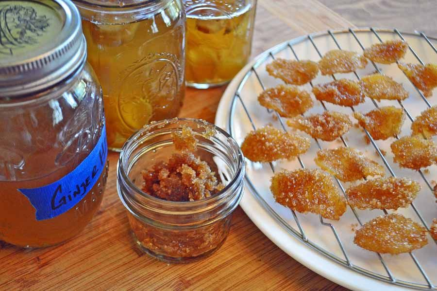 Candied Ginger and Ginger syrup ginger is supposed to