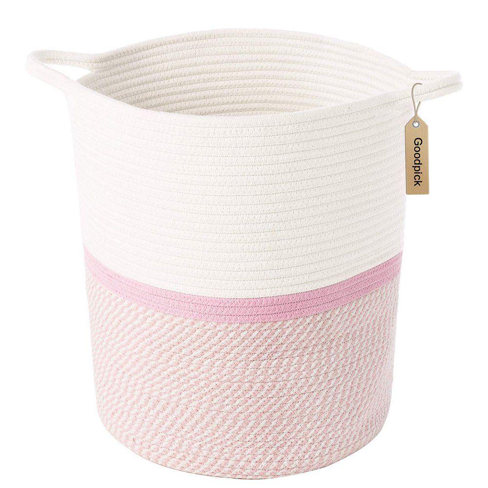 Pink Basket For Kids Large Laundry Hampers Nursery Bins 13 4 X
