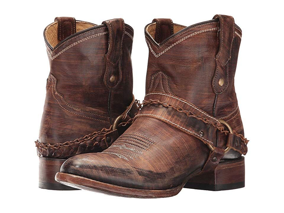 Womens Turquoise Plain Leather Western Cowgirl Boots Mid Calf Casual Square Toe