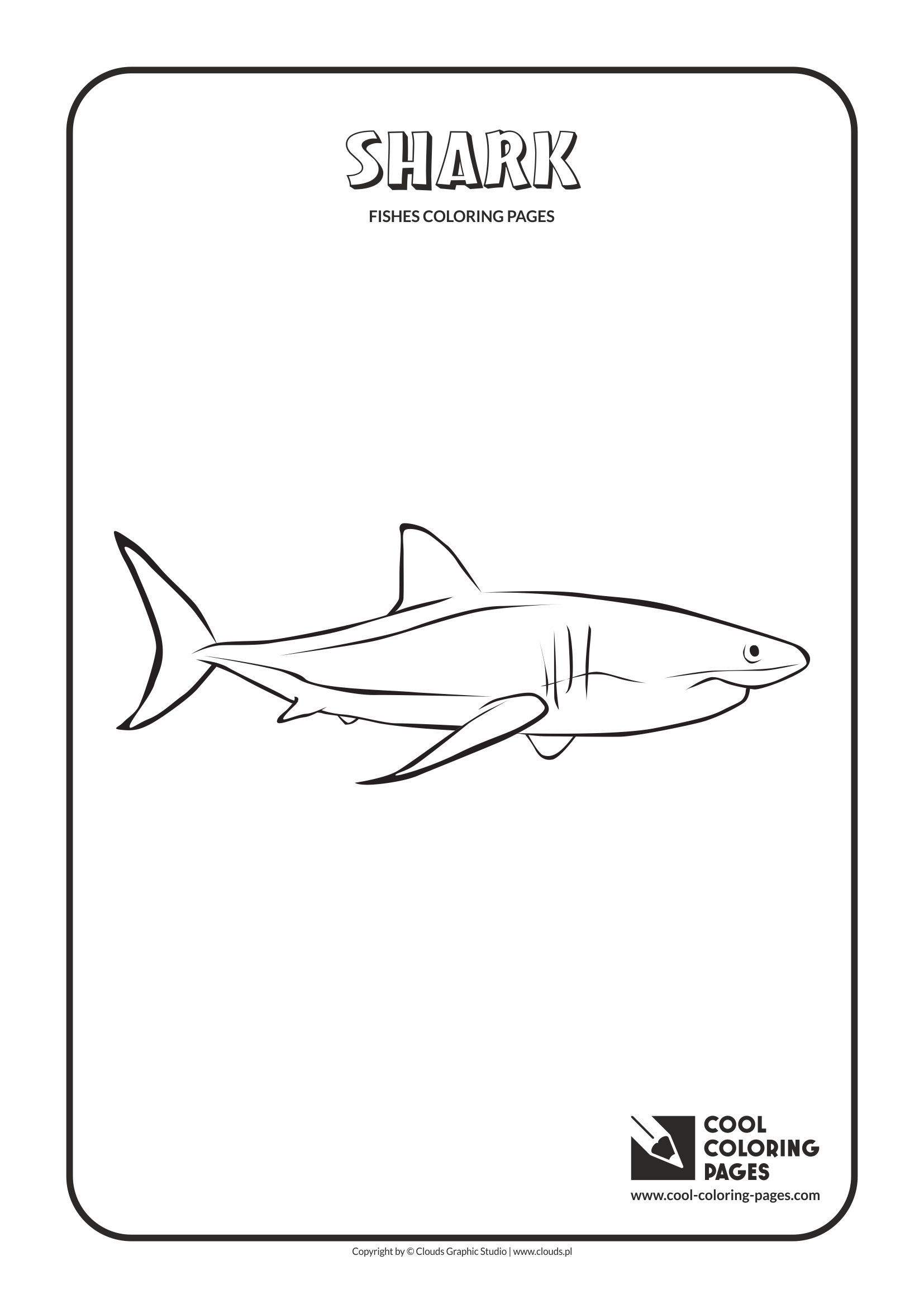 Shark Coloring Page Shark Coloring Pages Cool Coloring Pages