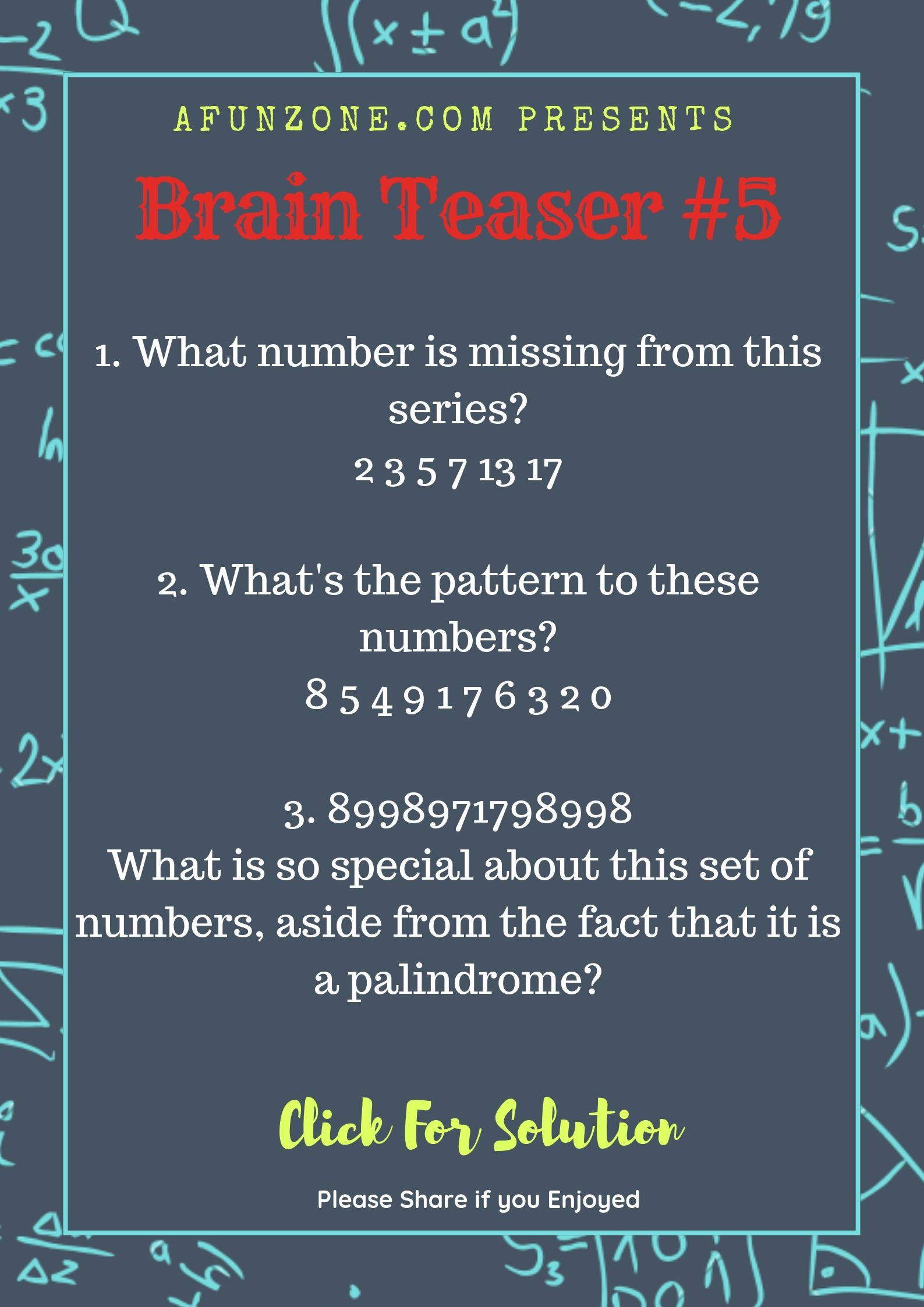 Today S Topic Brainteaser Puzzle Education Palindrome