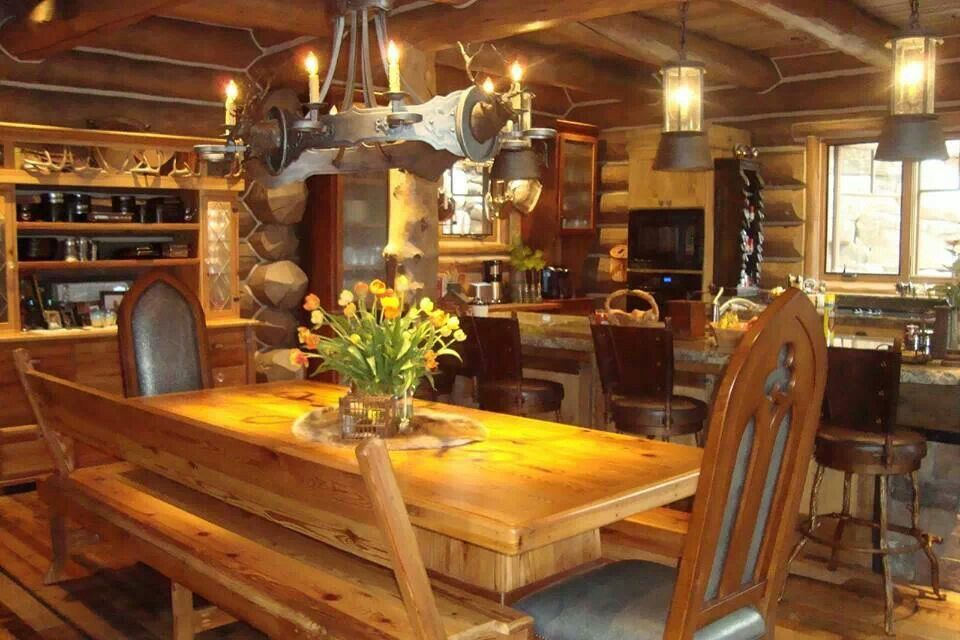 kitchen table log cabin pinterest log cabins cabin and kitchens