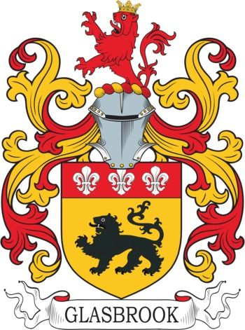 Glasbrook Family Crest and Coat of Arms