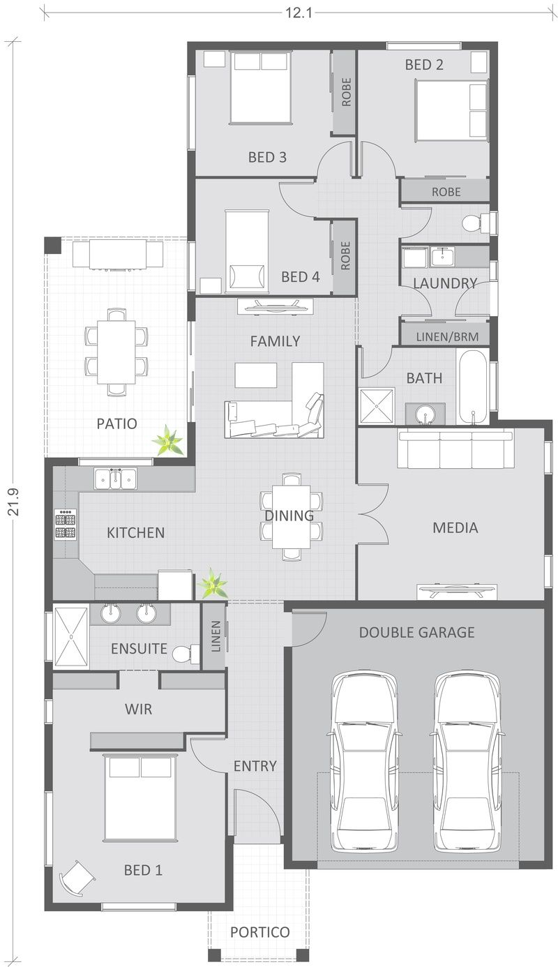 2D Floor plan, custom coloured and detailed to clients ...