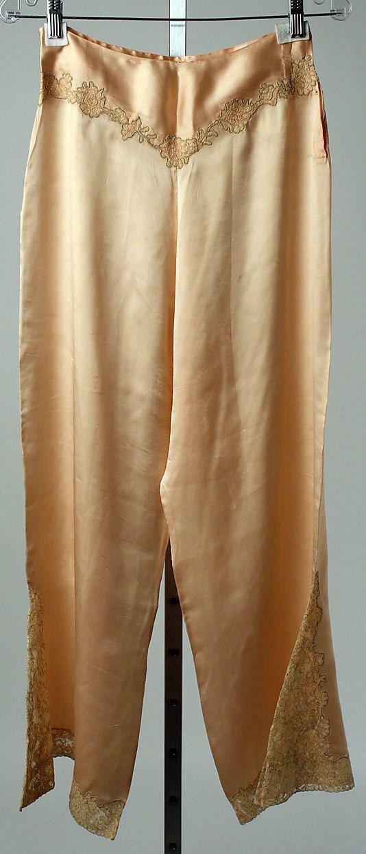 Pajamas Date  1923–28 Culture  French Medium  silk c50ac34c3