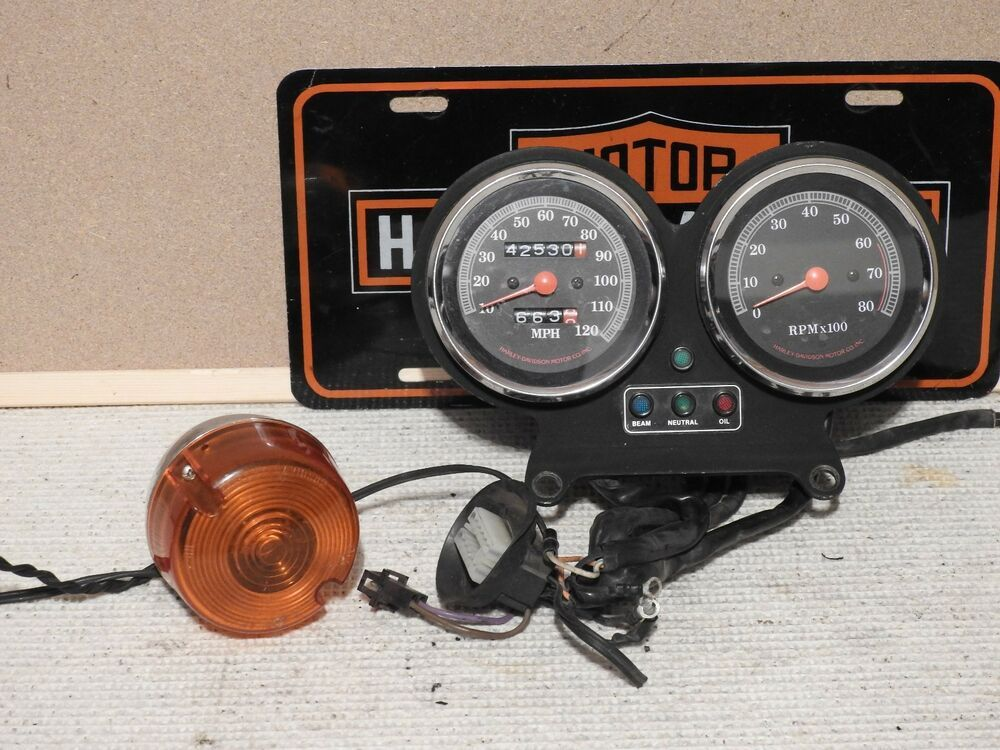 Original 1991 Harley Davidson Sportster Speedometer Tachometer