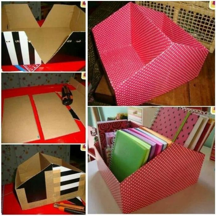Diy File Organizer From Shoe Box Diy Box Organizer Shoe Box