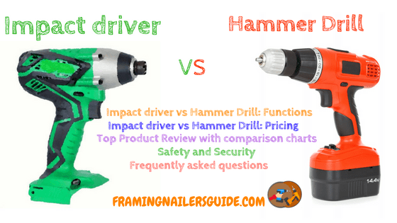 Impact Drivers Vs Hammer Drills Know The Differences Impact Driver Hammer Drill Framing Nailers