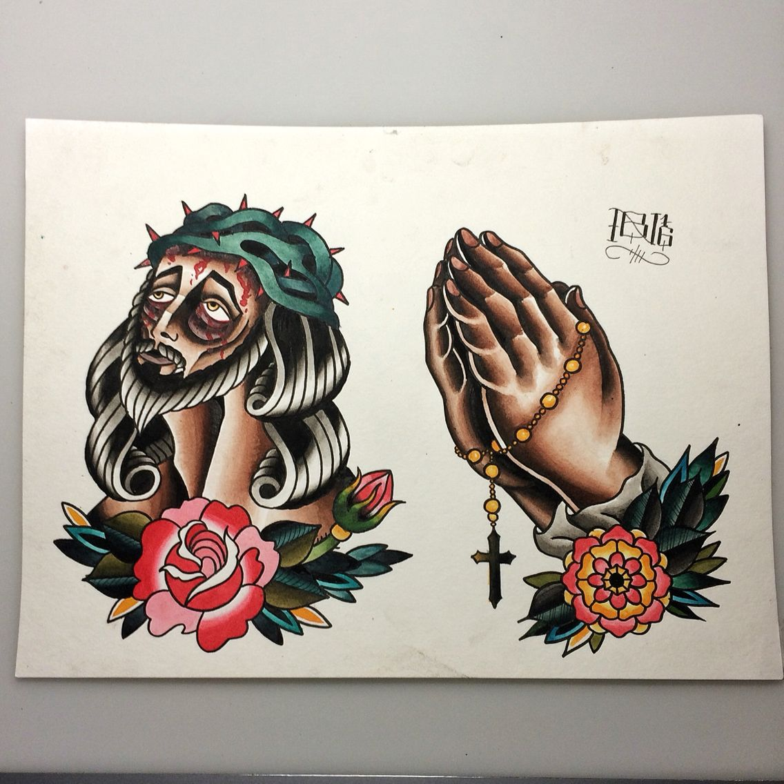 Traditional Praying Hands Tattoo Black And Gray: For The Love Of God. Make. Him. Stop. Make Them Suffer