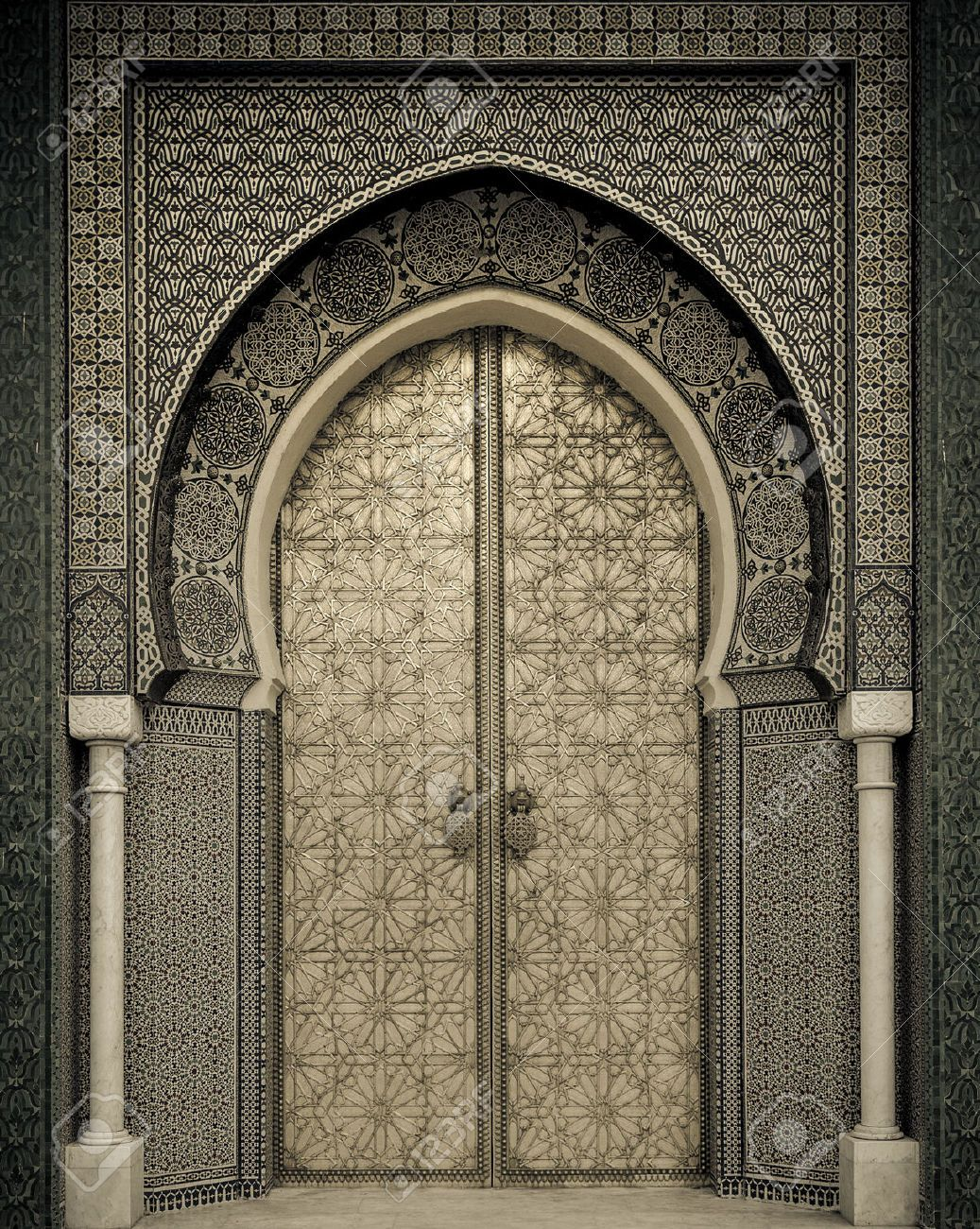 22639786 ancient doors morocco stock photo islamic morocco for Islamic home designs