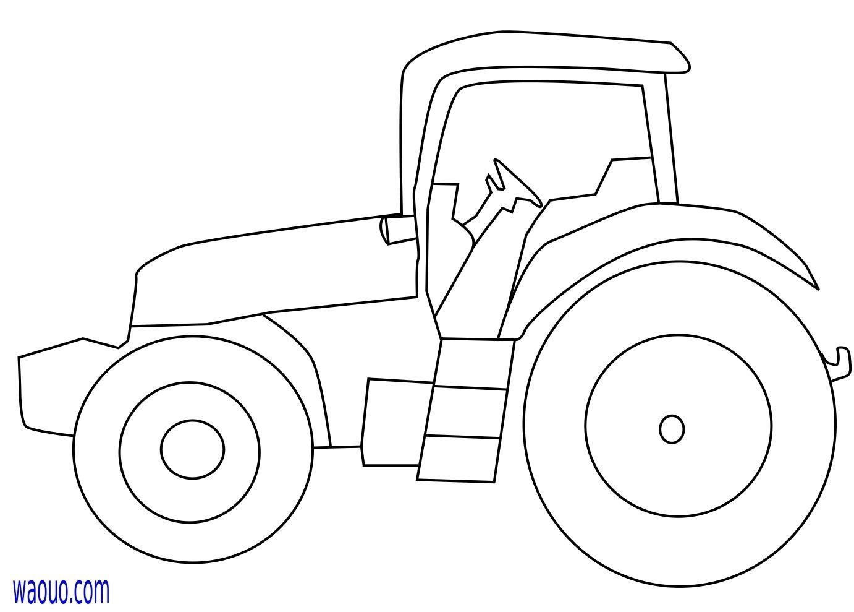 Tracteur coloriage tracteur gratuit imprimer et colorier petit dessin d un tracteur - Dessin tracteur facile ...
