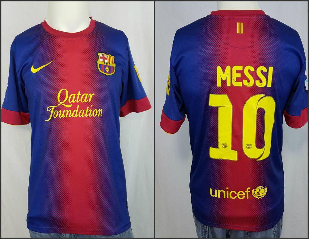 Misericordioso asistencia explique  Nike Dri Fit Lionel #10 Messi Qatar Foundation Unicef FCB LFP Soccer Jersey  | Messi, Unicef, Nike dri fit
