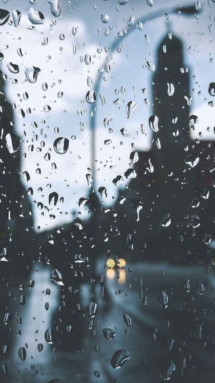 Photography Of Window View And Raindrops During A Raining Day At Town Photography Raindrops Window View Rainy Wallpaper Rain Wallpapers Rain Photography