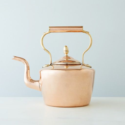 Vintage Copper Large Round English Tea Kettle, Mid 19th Century on Provisions by Food52