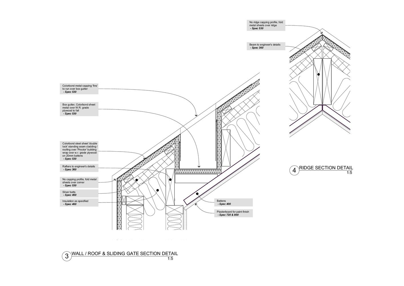 Gallery Of The Shadow House Nic Owen Architects 25 Roof Cladding Roof Detail Architecture Details