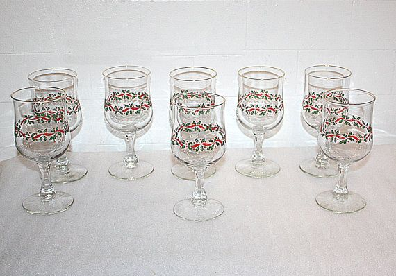Vintage Christmas Set of Eight Crystal by QUEENIESECLECTIC on Etsy