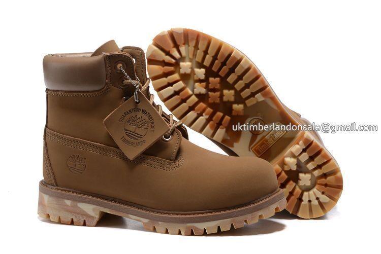 New Fashion Timberland Boots Kids 6 Inch - Light Tan Camo