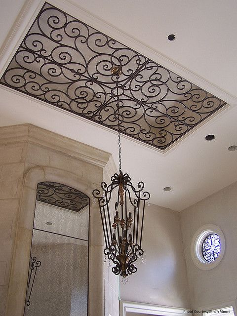 Faux Wrought Iron Ceiling Decor With