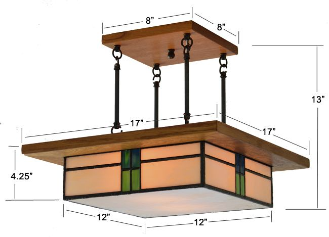 Arts And Crafts Lighting Fixture Ceiling Lights