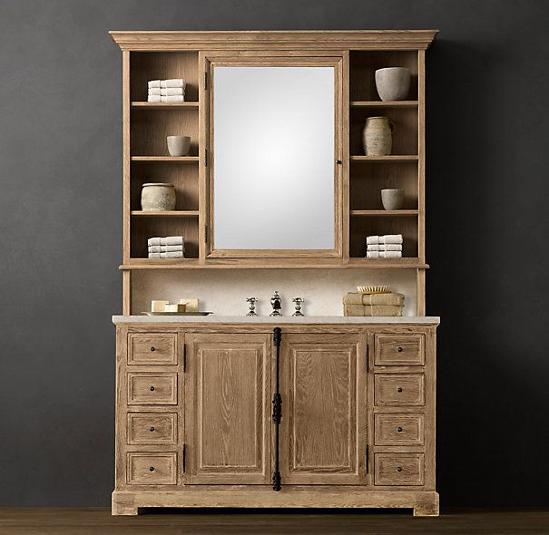 Ana White Build A Vanity Hutch With Recessed Lights Free And - Bathroom vanity hutch cabinets for bathroom decor ideas