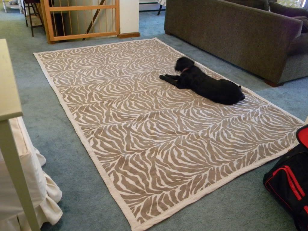 Fabric Rug Using Upholstery Yardage And