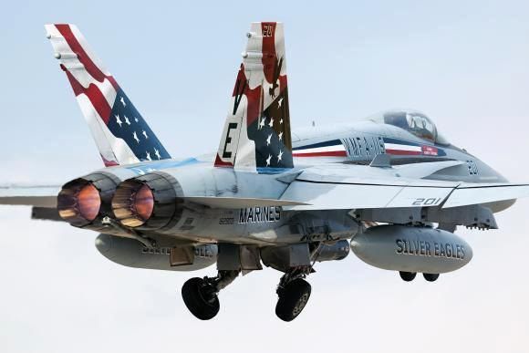 Red White and Blue F-18
