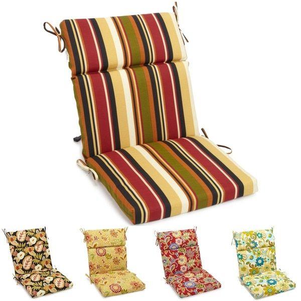 Blazing Needles Three Section Outdoor Chair Cushion Patio
