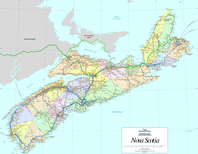 List Of Cities In Nova Scotia