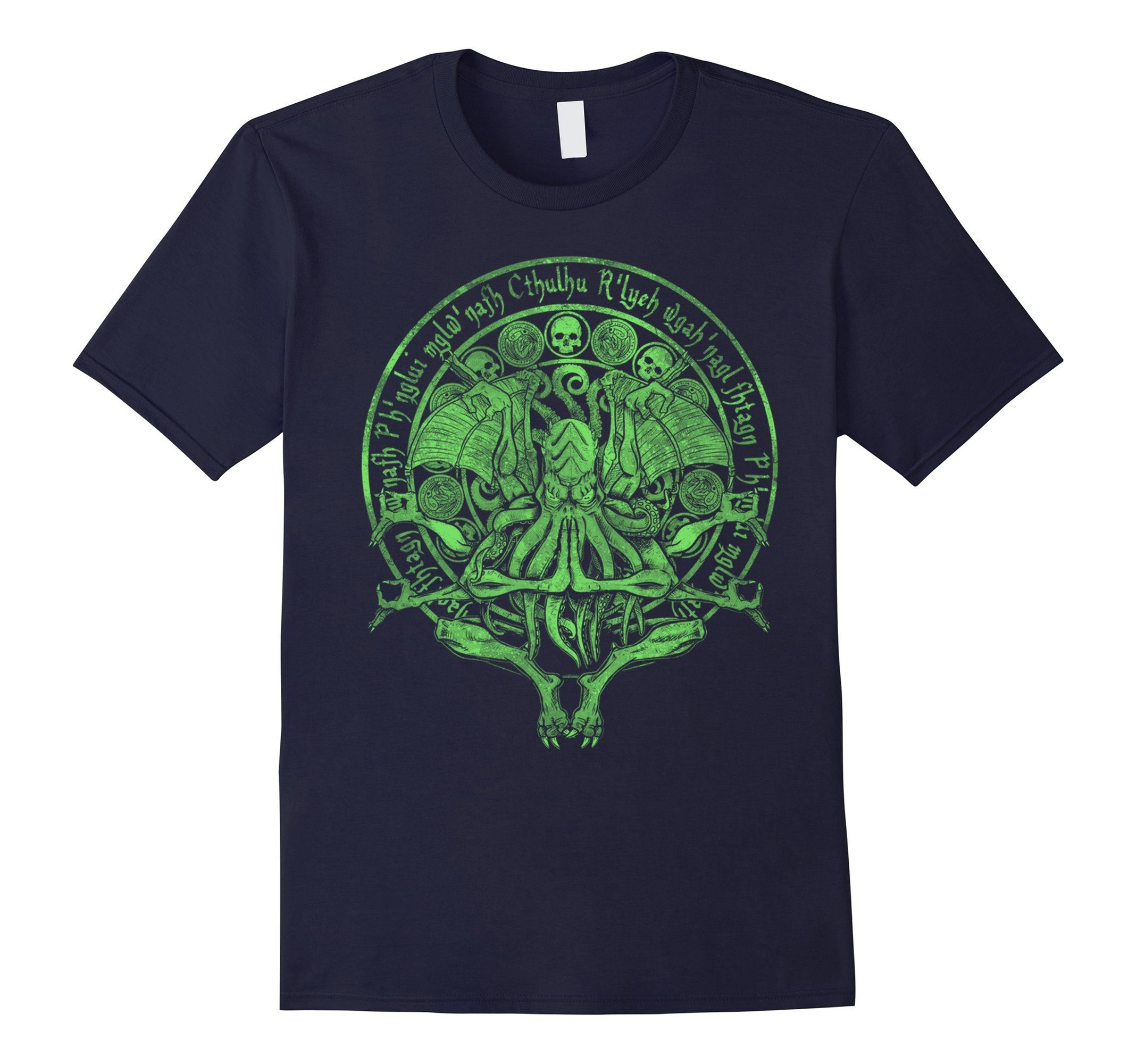 285f1b36bb5 Men's The Idol - Cthulhu Shirt Sick Green Variant Funny Tees Medium Navy --  Awesome products selected by Anna Churchill