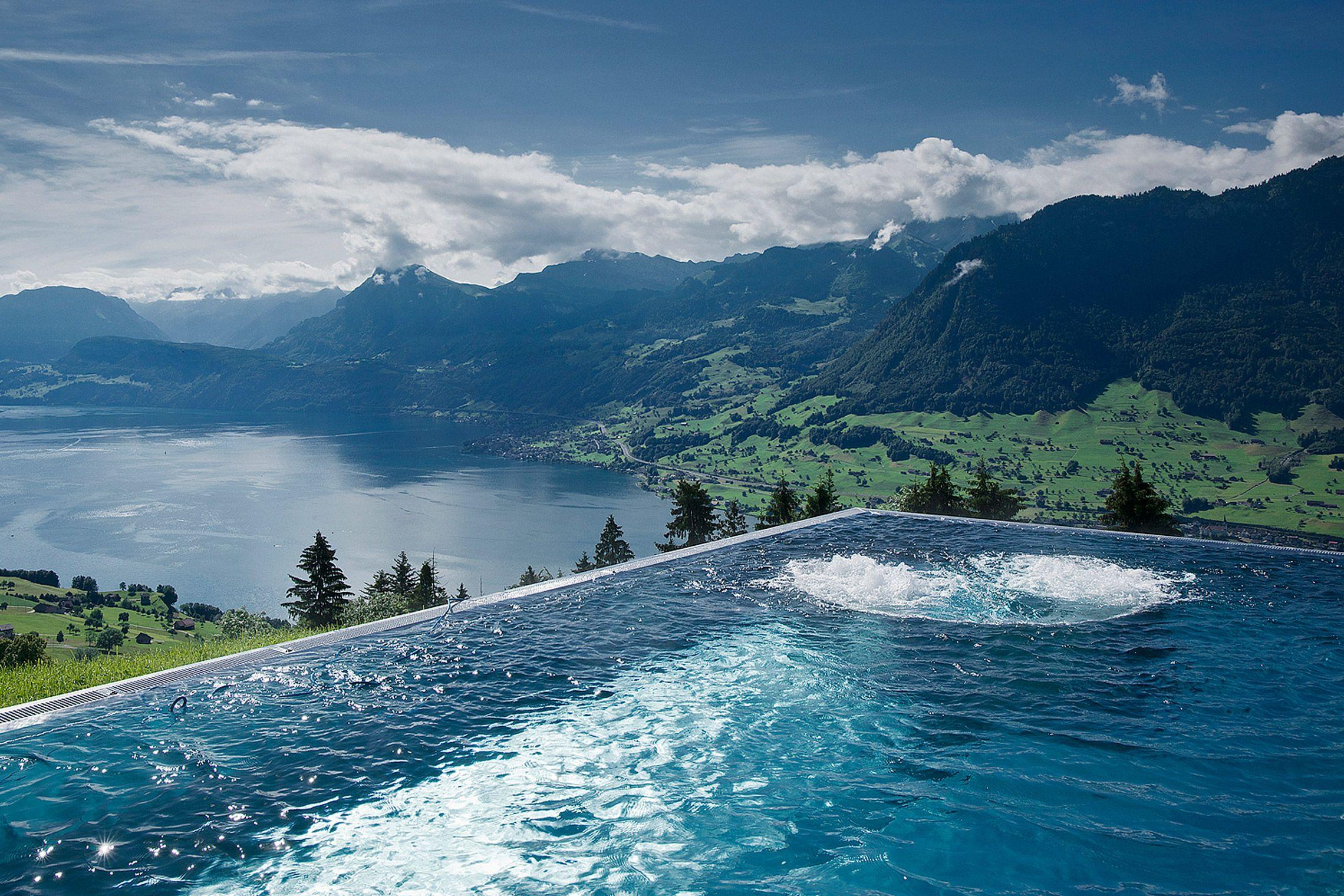 Brand Identity Pool Vierwaldstattersee Burgenstock Hotel Villa