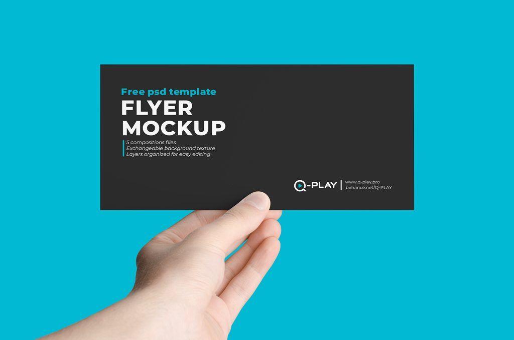 Hand Holding Flyer Mockup Bundle