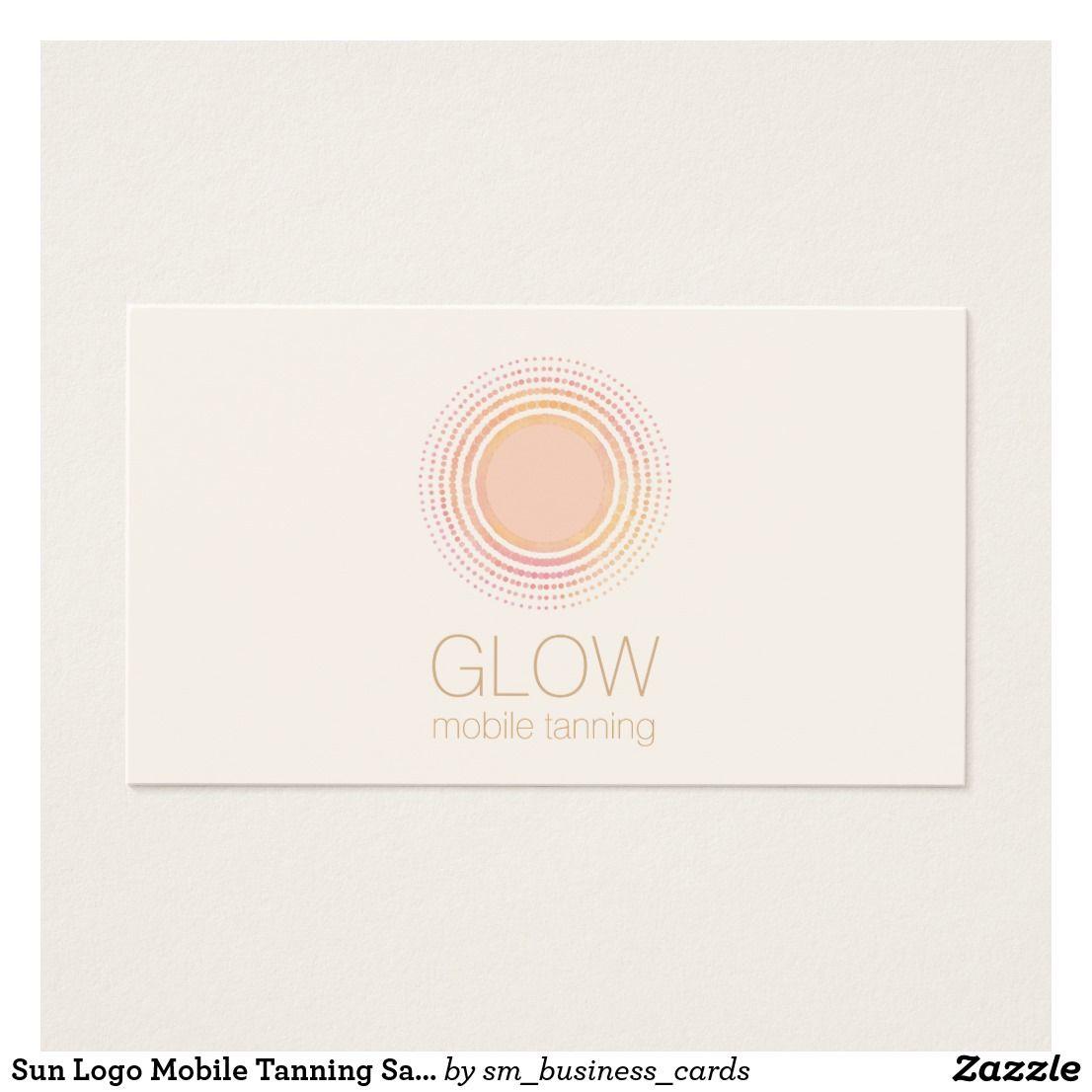 Sun Logo Mobile Tanning Salon _ lovely business card for spray tan ...