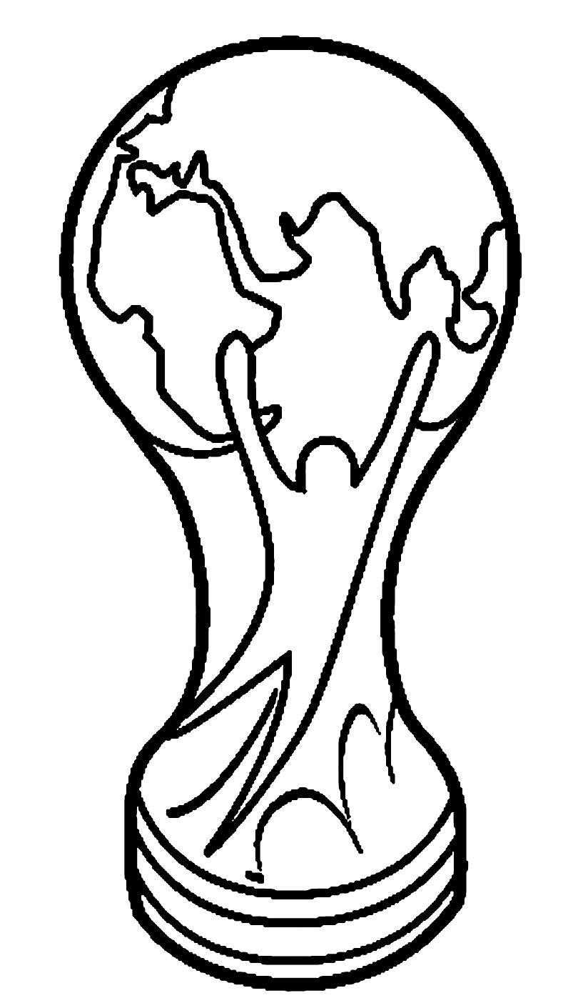 Pin Von Sigrid Lauer Auf Fussball Wm Pokal Ausmalen Ausmalbilder