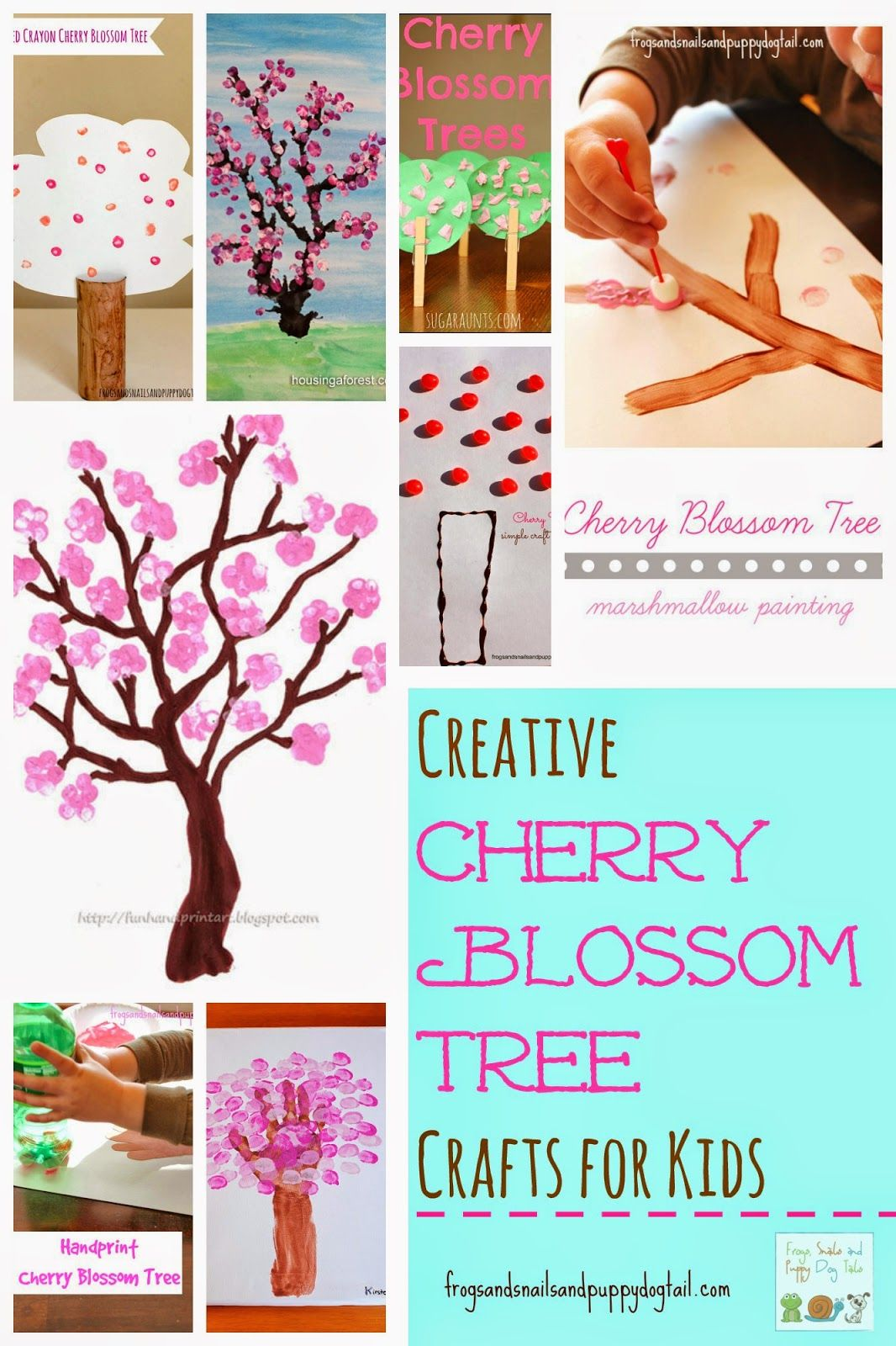 Creative Cherry Blossom Tree Crafts for Kids by FSPDT Fun Crafts To Do,  Spring Crafts
