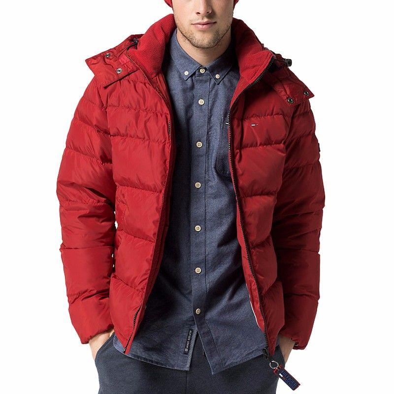 Doudoune Tommy Hilfiger homme modèle Nebraska rouge