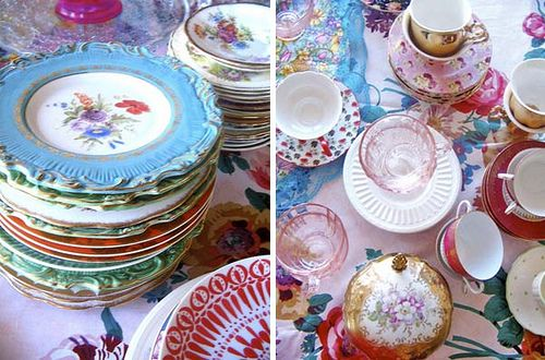 Mis Matched China For Vintage Weddings Mismatched China Wedding