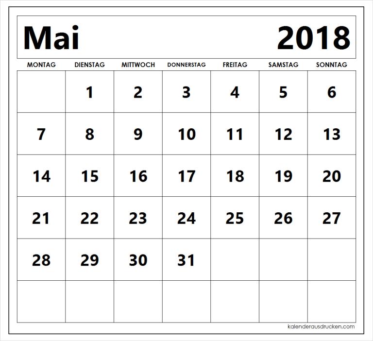Kalender Mai 2018 Computer Keyboard
