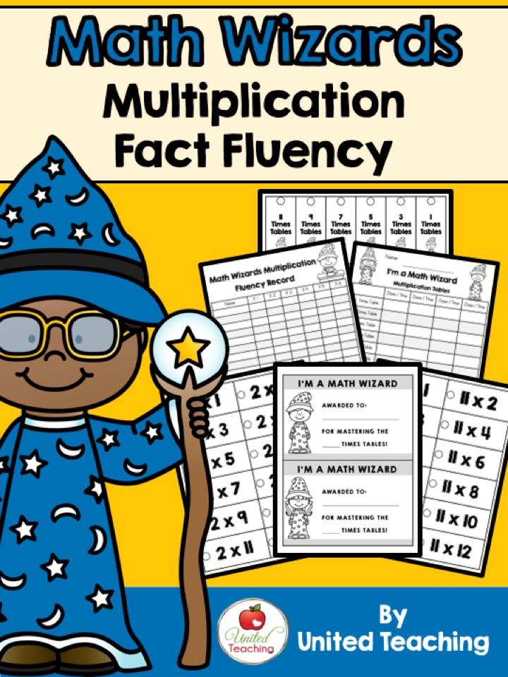 Math Wizards Multiplication Fact Fluency Packet >> Assess and record multiplication fact fluency!