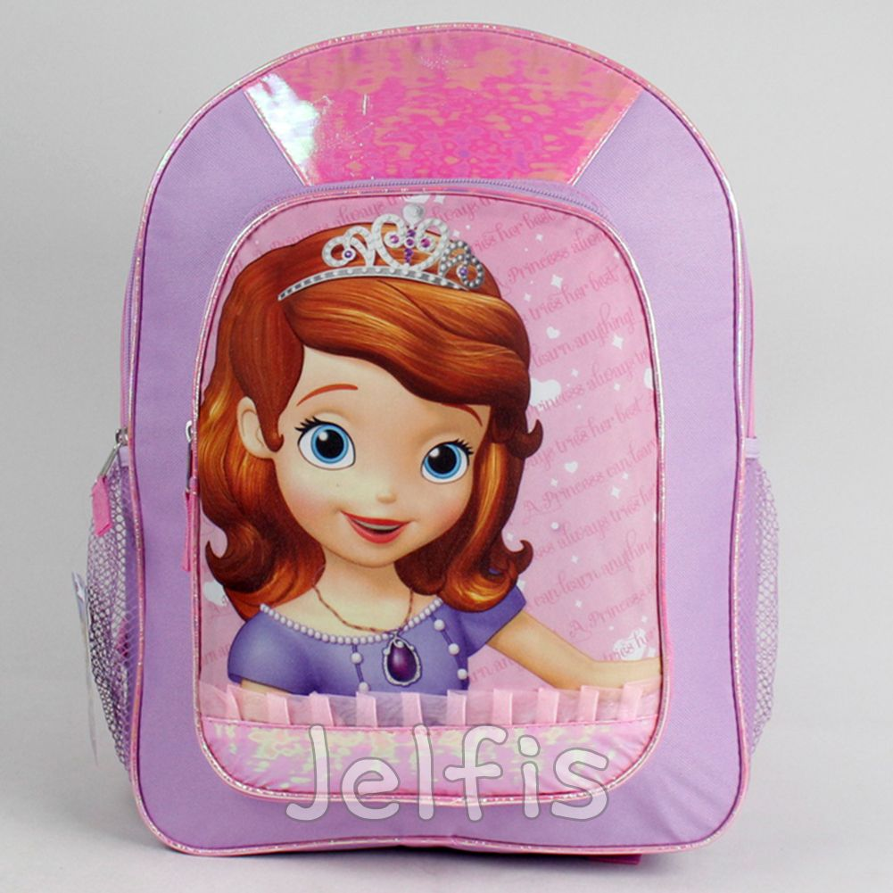 b361e11d051 Jelfis.com - Disney Sofia the First Large Backpack - Shiny Pink 16  Girls